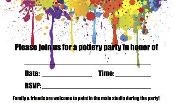 download invitations upaint pottery studio
