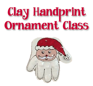 Clay Handprint Ornament Making @ uPaint Pottery Studio, All Locations