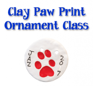 Claw Paw Print Ornament Making @ uPaint Pottery Studio, All Locations