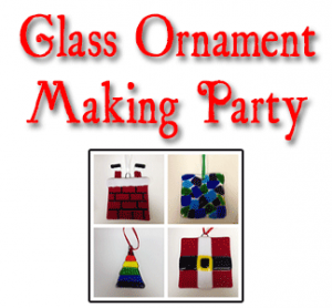 Glass Ornament Making Party @ uPaint Pottery Studio, All Locations