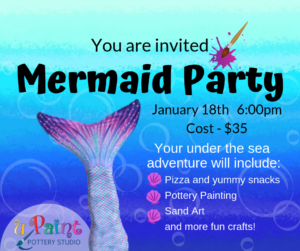 Mermaid Painting Party @ All uPaint Locations