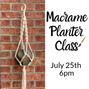 Macrame Planter Class @ All uPaint Locations