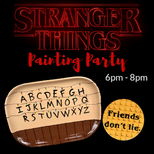 Stranger Things Painting Party @ All uPaint Locations