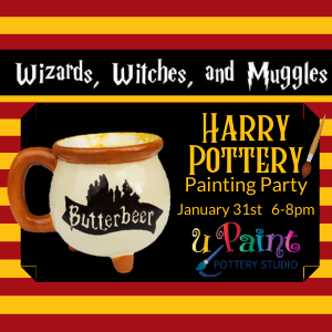 Harry Pottery Painting Party @ All uPaint Locations