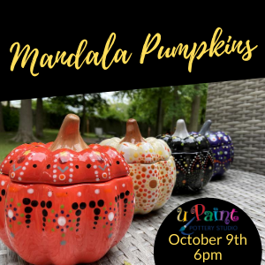 Mandala Pumpkin Painting Class @ All uPaint Locations