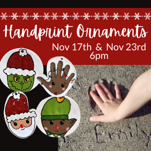 Handprint Ornament Making @ All uPaint Locations