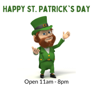 Happy St Patricks Day @ All uPaint Locations