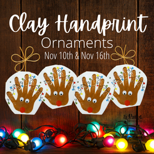 Clay Handprint Ornament Making @ All uPaint Locations