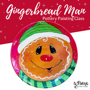 Gingerbread Man Painting Class @ All uPaint Locations